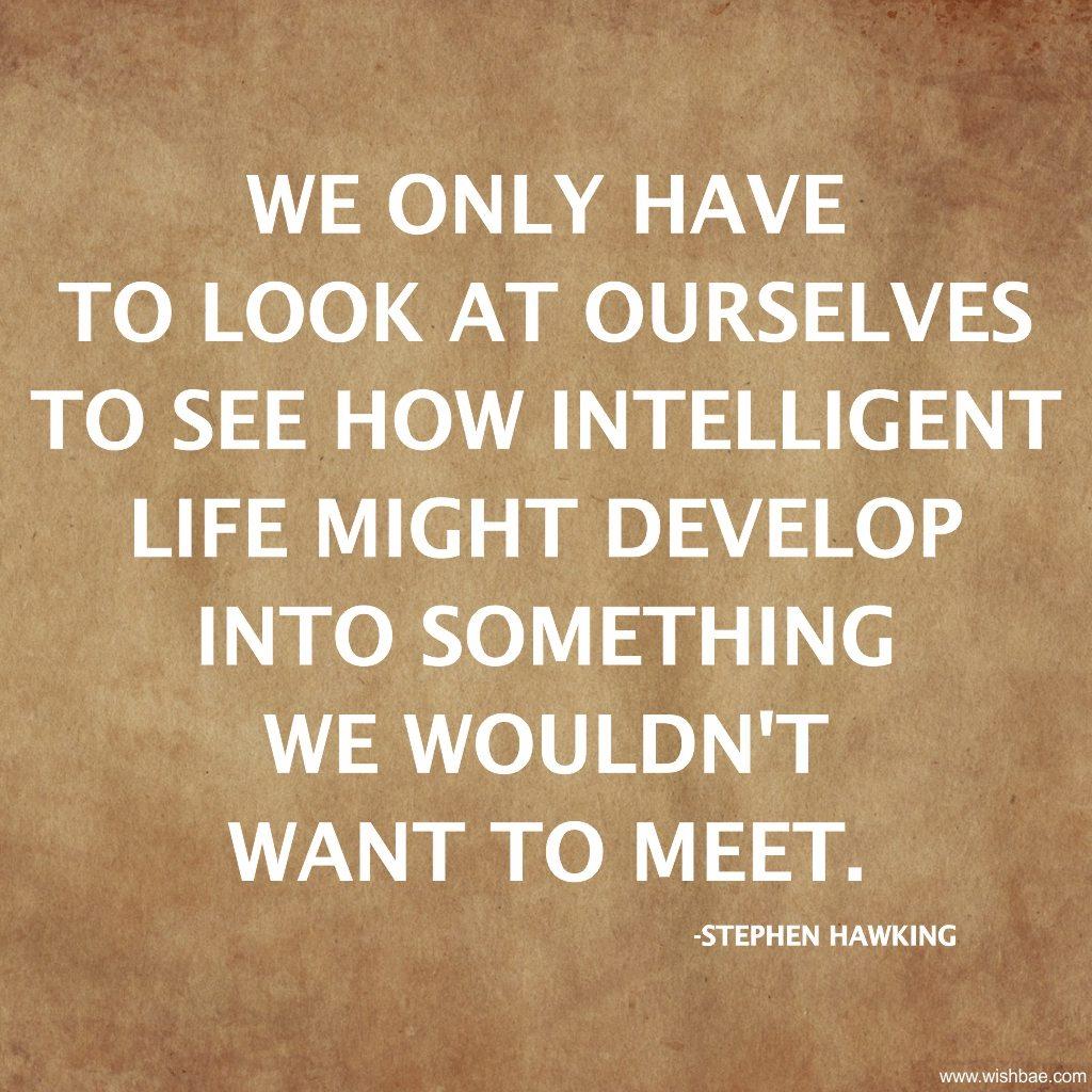 intelligent stephen hawking quote