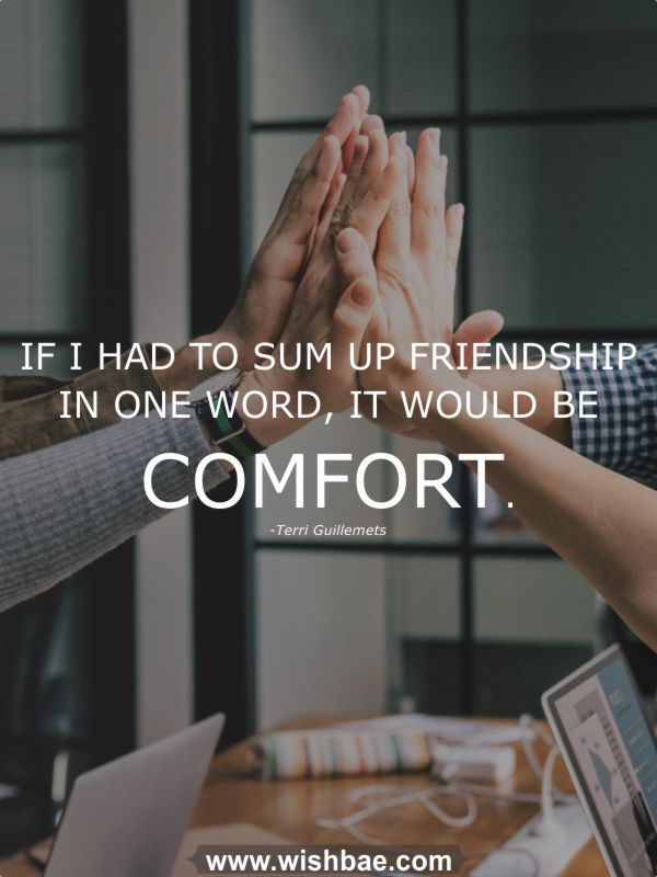 Terri Guillemets quote about friendship